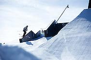 James Woods during Ski Slopestyle Practice at 2014 X Games Aspen at Buttermilk Mountain in Aspen, CO. ©Brett Wilhelm/ESPN
