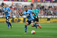 Nacer Chadli of Tottenham Hotspur in action. Barclays premier league match, Swansea city v Tottenham Hotspur at the Liberty Stadium in Swansea, South Wales on Sunday 4th October 2015.<br /> pic by  Andrew Orchard, Andrew Orchard sports photography.