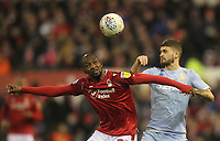 Leeds United's Mateusz Klich in action with Nottingham Forest's Samba Sow<br /> <br /> Photographer Mick Walker/CameraSport<br /> <br /> The EFL Sky Bet Championship - Nottingham Forest v Leeds United - Saturday 8th February 2020 - The City Ground - Nottingham <br /> <br /> World Copyright © 2020 CameraSport. All rights reserved. 43 Linden Ave. Countesthorpe. Leicester. England. LE8 5PG - Tel: +44 (0) 116 277 4147 - admin@camerasport.com - www.camerasport.com