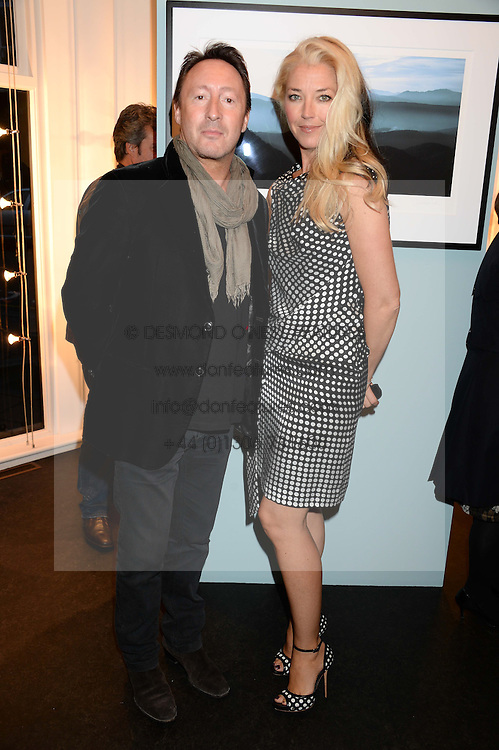 JULIAN LENNON and TAMARA BECKWITH at a private view of Photographs by Julian Lennon held at The Little Black Gallery, 13A Park Walk, London SW10 on 17th September 2013.