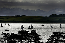 SUSA Yachting in Largs Channel with Arran in the background.
