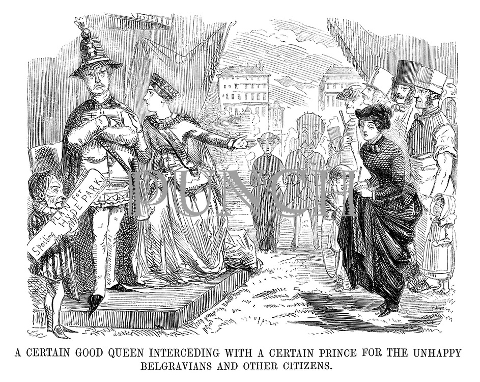 A Certain Good Queen Interceding with a Certain Prince for the Unhappy Belgravians and Other Citizens.