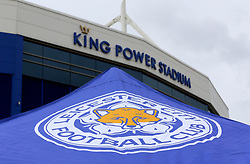 A general view of the outside of the stadium prior to the Premier League match at the King Power Stadium, Leicester.