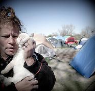 Tent City near Sacramento California