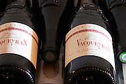 Bottles of Vacqueyras. Les Calades 2004. Domaine la Monardiere Monardière, Vacqueyras, Vaucluse, Provence, France, Europe