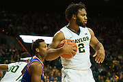 WACO, TX - JANUARY 7: Rico Gathers #2 of the Baylor Bears grabs a defensive rebound against the Kansas Jayhawks on January 7, 2015 at the Ferrell Center in Waco, Texas.  (Photo by Cooper Neill/Getty Images) *** Local Caption *** Rico Gathers