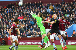 March 16, 2019 - Birmingham, England, United Kingdom - Jed Steer (12) of Aston Villa punches the ball clear during the Sky Bet Championship match between Aston Villa and Middlesbrough at Villa Park, Birmingham on Saturday 16th March 2019. (Credit Image: © Mi News/NurPhoto via ZUMA Press)