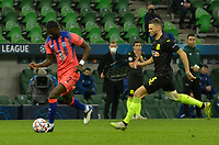 KRASNODAR, RUSSIA - OCTOBER 28: Antonio Rüdiger of Chelsea is chased down by Marcus Berg of FC Krasnodar during the UEFA Champions League Group E stage match between FC Krasnodar and Chelsea FC at Krasnodar Stadium on October 28, 2020 in Krasnodar, Russia.(Photo by MB Media)