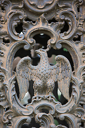 detail of a carved eagle