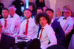 CARDIFF, WALES - Wednesday, June 1, 2016: Wales' Ethan Ampadu during a charity send-off gala dinner at the Vale Resort Hotel ahead of the UEFA Euro 2016. (Pic by David Rawcliffe/Propaganda)