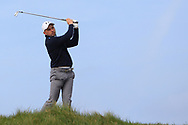 Keith Egan on the 9th tee during Round 4 of The West of Ireland Open Championship in Co. Sligo Golf Club, Rosses Point, Sligo on Sunday 7th April 2019.<br /> Picture:  Thos Caffrey / www.golffile.ie