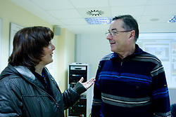Marta Bon and Miro Pozun at press conference of Slovenian Handball federation, when presented new web page http://www.rokometna-zveza.si/, on January 15, 2009, in RZS, Ljubljana, Slovenia. (Photo by Vid Ponikvar / Sportida)