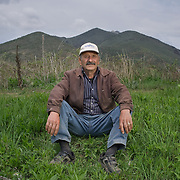 Themistocles (65) resting in his field near the village of Lemos, Greece