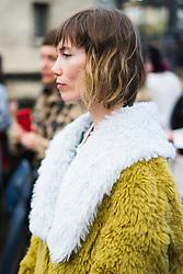 Anya Ziourova is seen during Paris Fashion Week Womenswear Fall/Winter 2018/2019, on March 4, 2018 in Paris, France.  (Photo by Nataliya Petrova/NurPhoto/Sipa USA)