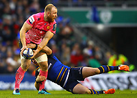 Rugby Union - 2017 / 2018 European Rugby Champions Cup - Pool Three: Leinster vs. Exeter Chiefs<br /> <br /> Exeter's Matt Kvesic in action against Leinster's Sean Cronin, at Aviva Stadium, Dublin.<br /> <br /> COLORSPORT/KEN SUTTON
