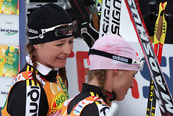 Katrin Zeller and Evi Stehle Sachenbacher of Germany after Ladies` Pursuit 7,5 km Classic + 7,5 km Free at FIS Nordic World Ski Championships Liberec 2008, on February 21, 2009, in Vestec, Liberec, Czech Republic. (Photo by Vid Ponikvar / Sportida)