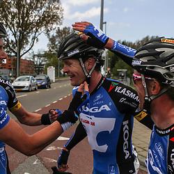 Olympia's Tour etappe Rhenen-Alkmaar Bart van Haaren, Arno van der Zwet, Wim Stroetinga