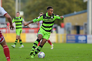 Forest Green Rovers Keanu Marsh-Brown(7) during the EFL Sky Bet League 2 match between Stevenage and Forest Green Rovers at the Lamex Stadium, Stevenage, England on 21 October 2017. Photo by Adam Rivers.