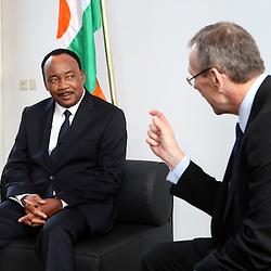 27 November 2013 - Belgium - Brussels - European Development Days - EDD - Bilateral between  Andris Piebalgs EU Commissioner for Development and Mahamadou Issoufou President of Niger  © European Union