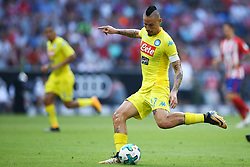 August 1, 2017 - Munich, Germany - Marek Hamsik of Napoli durign the first Audi Cup football match between Atletico Madrid and SSC Napoli in the stadium in Munich, southern Germany, on August 1, 2017. (Credit Image: © Matteo Ciambelli/NurPhoto via ZUMA Press)
