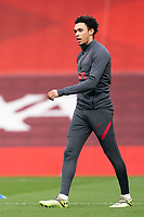 Football - 2020 / 2021 Premier League - Liverpool vs Fulham - Anfield<br /> <br /> Liverpool FC's Trent Alexander-Arnold during the pre-match warm-up <br /> <br /> CreditCOLORSPORT/TERRY DONNELLY
