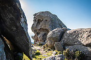 """""""Stone monsters"""", bizarre rock formations in the high ground in the extreme west of the island of Elba"""