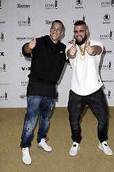 April 12, 2018 - Berlin, Germany - Farid Bang und Kollegah.Echo Pop Verleihung, Berlin, Germany - 11 Apr 2018.Credit: MichaelTimm/face to face (Credit Image: © face to face via ZUMA Press)