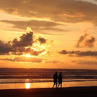 Central America, Costa Rica, Playa Esterillos Este. Sunset scene from Alma del Pacifico.