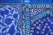 TURKEY, ISTANBUL Topkapi Palace, the Harem; Iznik tiles on the exterior walls of the Circumcision Room in the 4th Courtyard