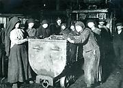 Slave labourers at a Polish Mine in Nazi occupied Silesia c1941.