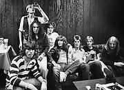 Uriah Heep Backstage group shot London 1975