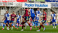 Bristol Rovers defender Alfie Kilgour (15) fouls Ipswich Town forward James Norwood (10) during the EFL Sky Bet League 1 match between Bristol Rovers and Ipswich Town at the Memorial Stadium, Bristol, England on 19 September 2020.