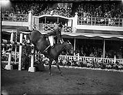 "04/08/1960<br /> 08/04/1960<br /> 04 August 1960<br /> R.D.S Horse Show Dublin (Thursday). Mr Seamus Hayes on ""Kilbrack""."
