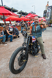 Wrench Magazine old school bike show at the Easyriders Saloon during the annual Sturgis Black Hills Motorcycle Rally. SD, USA. August 6, 2014.  Photography ©2014 Michael Lichter.
