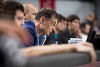 Khimki Moscow coach Georgios Bartokas during Turkish Airlines Euroleague match between Real Madrid and Khimki Moscow at Wizink Center in Madrid, Spain. November 02, 2017. (ALTERPHOTOS/Borja B.Hojas)