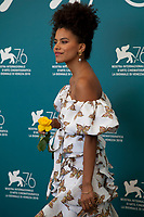 Venice, Italy, 30th August 2019, Zazie Beetz at the photocall for the film Seberg at the 76th Venice Film Festival, Sala Grande. Credit: Doreen Kennedy/Alamy Live News
