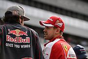 October 8-11, 2015: Russian GP 2015: Sebastian Vettel (GER), Ferrari, Carlos Sainz Jr. Scuderia Toro Rosso