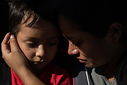Anita Areli Ramirez Mejia, an asylum seeker from Honduras separated from her six year-old son Jenri near the Mexico-U.S. border during the family separation crisis, is reunited with him in Harlingen, Texas, U.S., July 13, 2018.