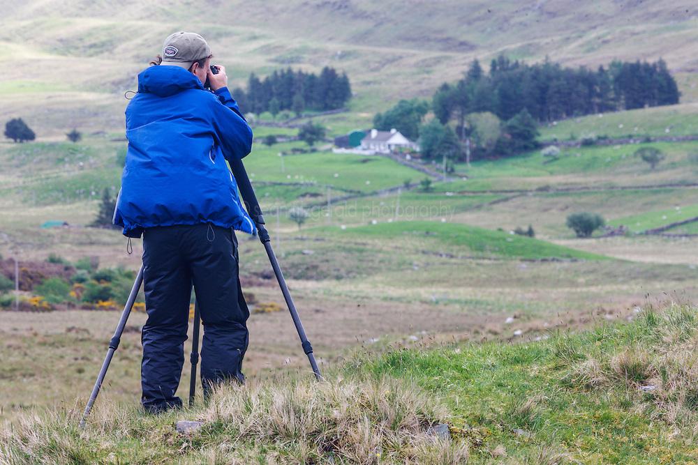 Photographer in Sheeffrey Hills, County Mayo, Ireland