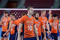 Jeroen Rauwerdink #10 of Netherlands after the  volleyball match between National teams of Netherlands and Slovenia in Playoff of 2015 CEV Volleyball European Championship - Men, on October 13, 2015 in Arena Armeec, Sofia, Bulgaria. Photo by Ronald Hoogendoorn / Sportida