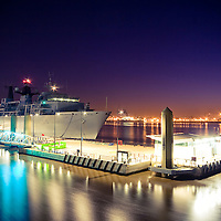 HMS Bulwark docked at the cruise liner terminal in Liverpool.  She stayed for around 5 days.