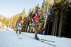 Arnd Peiffer (GER) during Men 12,5 km Pursuit at day 3 of IBU Biathlon World Cup 2015/16 Pokljuka, on December 19, 2015 in Rudno polje, Pokljuka, Slovenia. Photo by Vid Ponikvar / Sportida