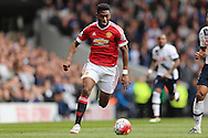 Timothy Fosu-Mensah of Manchester United in action. Barclays Premier league match, Tottenham Hotspur v Manchester Utd at White Hart Lane in London on Sunday 10th April 2016.<br /> pic by John Patrick Fletcher, Andrew Orchard sports photography.