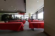 tearoom in a modern building inside the Sankeien garden Yokohama Japan