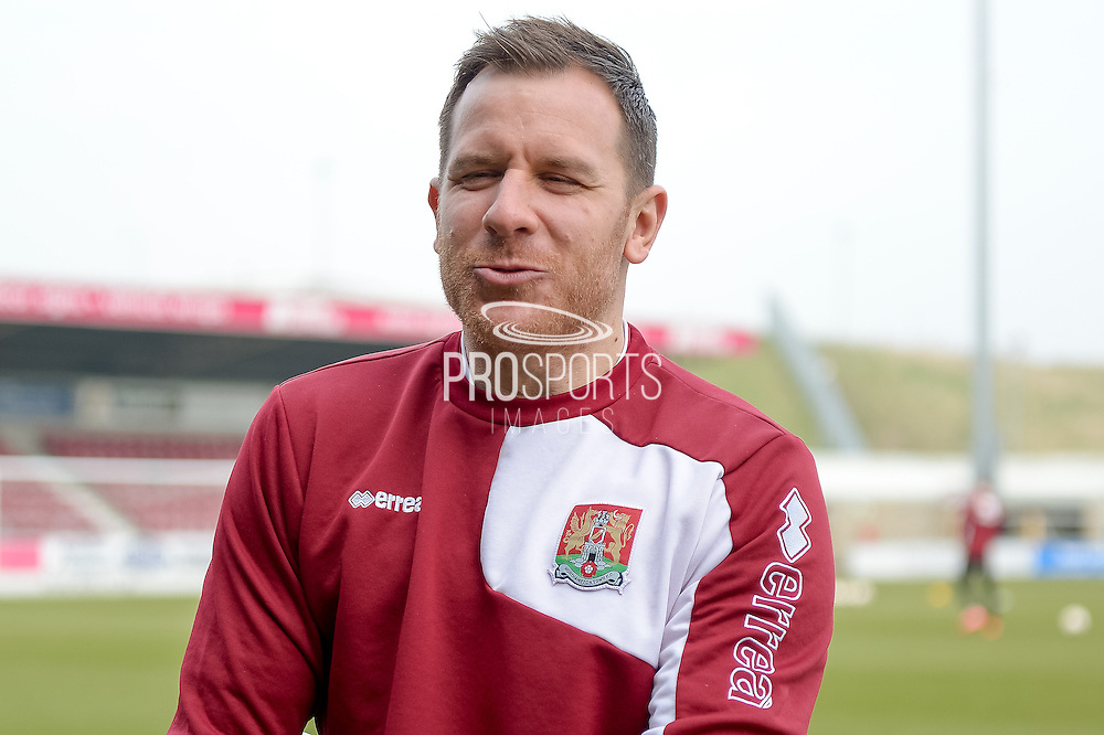 Northampton Town GoalKeeper Ryan Clarke  during the Sky Bet League 2 match between Northampton Town and Cambridge United at Sixfields Stadium, Northampton, England on 12 March 2016. Photo by Dennis Goodwin.