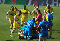 Célébration Victory Stade Rochelais of Stade Rochelais during the European Rugby Champions Cup, semi final rugby union match between Stade Rochelais and Leinster Rugby on May 2, 2021 at Marcel Deflandre stadium in La Rochelle, France - Photo Laurent Lairys / ABACAPRESS.COM