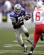 Kansas State running back Carlos Alsup (21) rushes up field against Illinois State at Bill Snyder Family Stadium in Manhattan, Kansas, September 2, 2006.  The Wildcats beat the Redbirds 24-23.