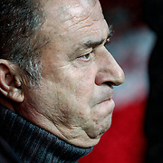 Galatasaray's coach Fatih Terim during their Turkish Super League soccer match Galatasaray between MKE Ankaragucu at the TT Arena at Seyrantepe in Istanbul Turkey on Wednesday, 25 January 2012. Photo by TURKPIX
