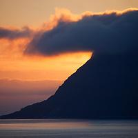 Europe, Norway, Alesund. Sunrise marks dramatic coastline near Alesund.