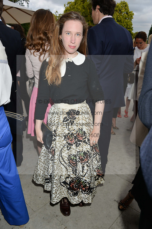 LADY FRANCES VON HOFMANNSTHAL at The Ralph Lauren & Vogue Wimbledon Summer Cocktail Party at The Orangery, Kensington Palace, London on 22nd June 2015.  The event is to celebrate ten years of Ralph Lauren as official outfitter to the Championships, Wimbledon.